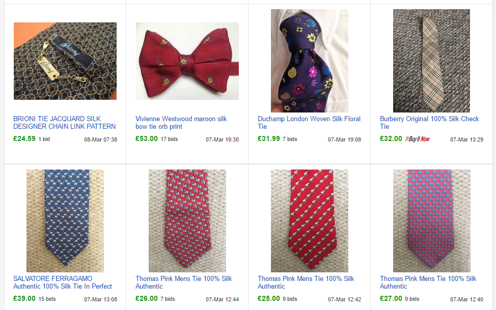 How to sell ties on ebay