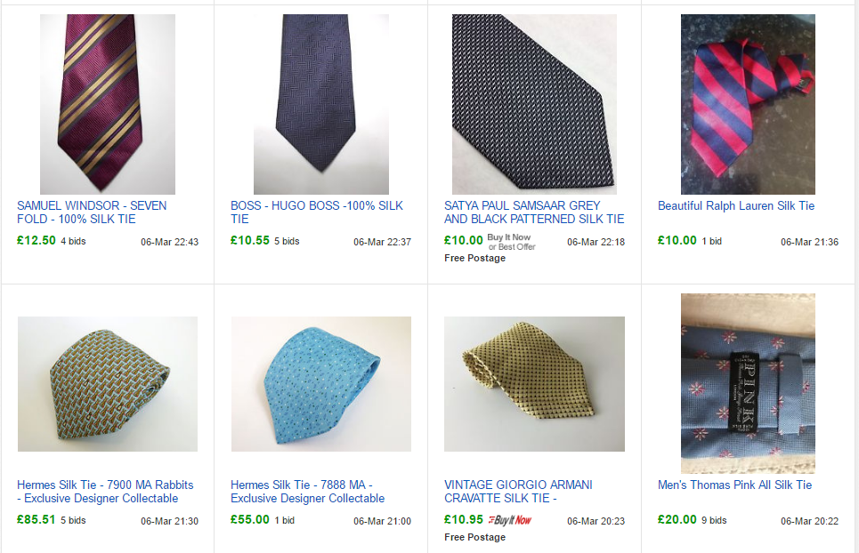 Ties On eBay