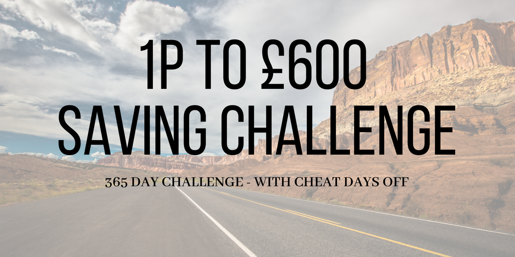 money saving challenge post