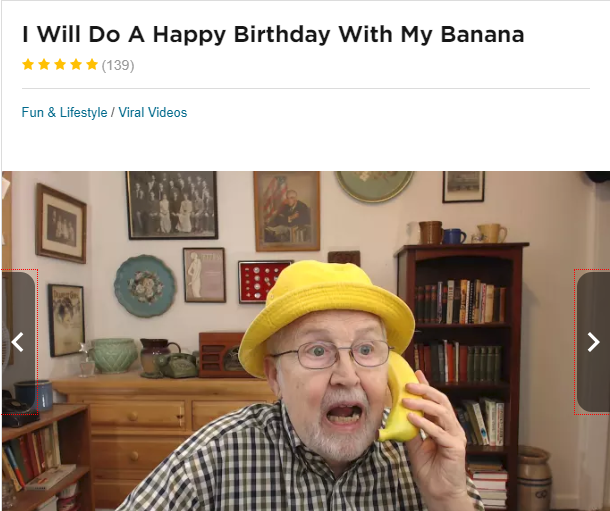happy birthday banana singing man