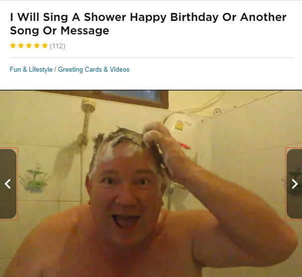 make money singing happy birthday in the shower