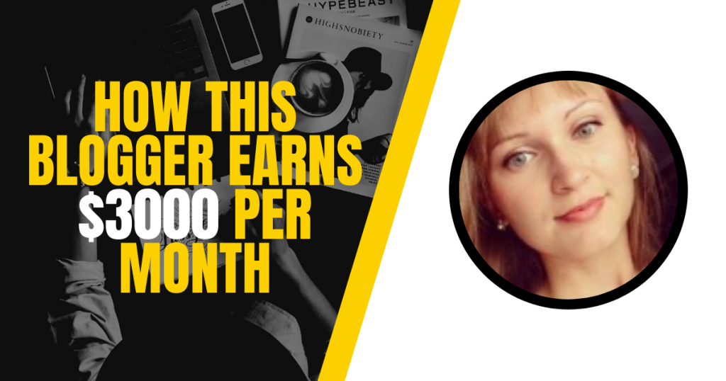 blogger earns 3K per month