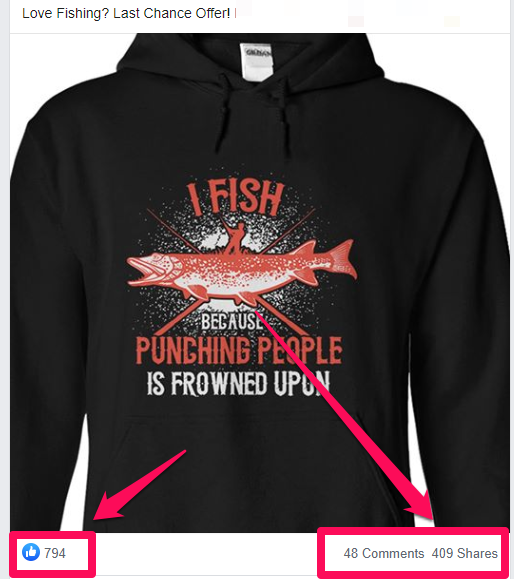 A hooded print on demand top with a fish on it